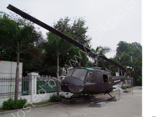 US Helicopter Gunship, Bao Tang Chung Tich Chien Tranh (War Remnants Museum), Ho Chi Minh City