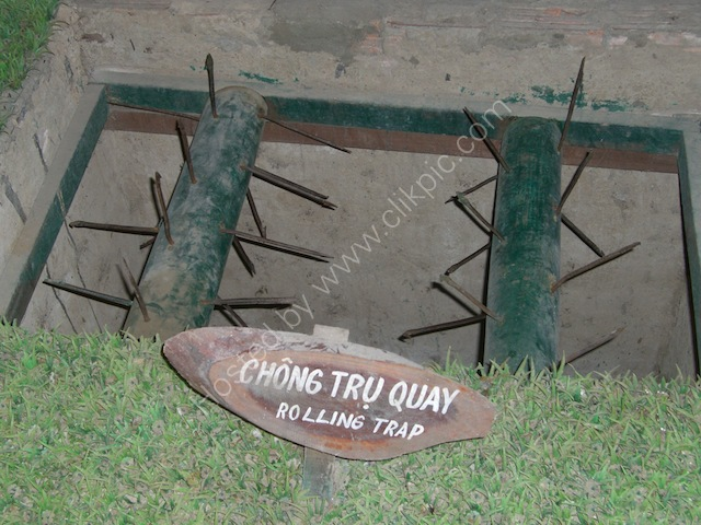 Rolling Trap, Cu Chi Tunnels, outside Ho Chi Minh City