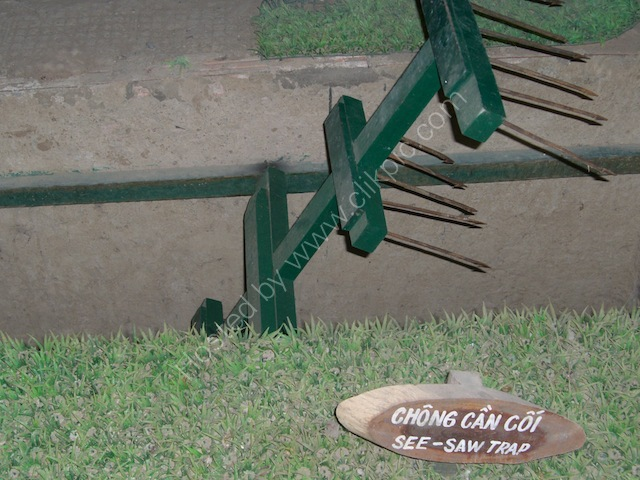 See Saw Trap, Cu Chi Tunnels, outside Ho Chi Minh City