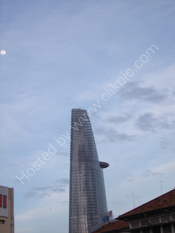 Modern Office Building & The Moon, Ho Chi Minh City