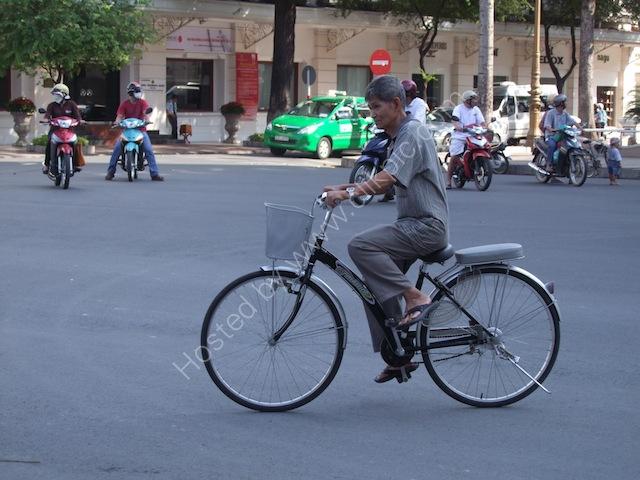 Vietnamese Cyclist, Ho Chi Minh City
