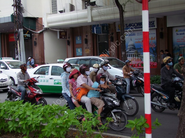 Four People on Motorbike, Ho Chi Minh City