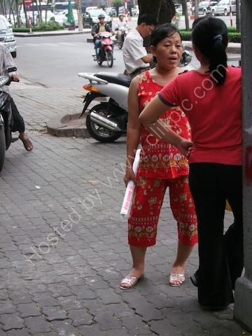 Vietnamese Lady Dress, Ho Chi Minh City