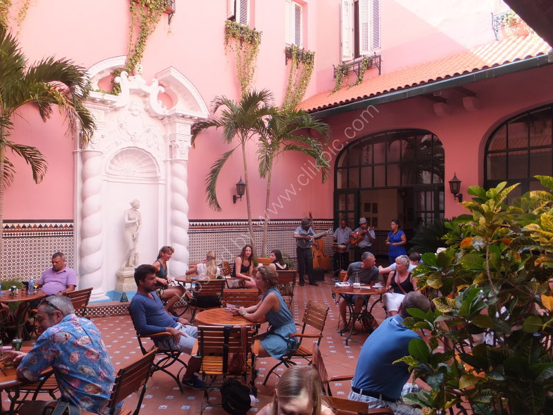 Outdoor Cafe at Hotel Saratoga, Prado, Havana