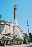 Minaret, Haghia Sophia Museum, Istanbul, Turkey