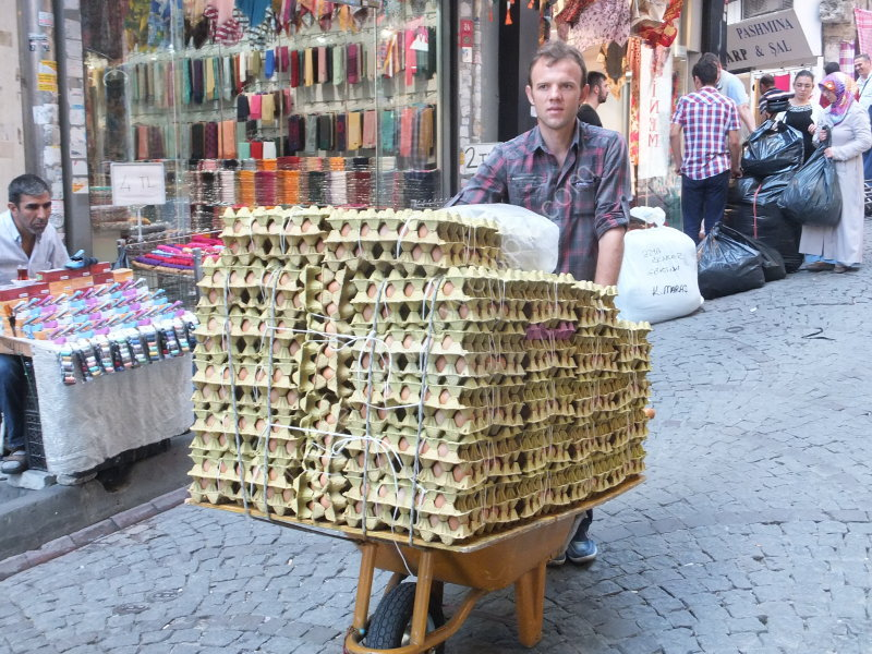 Watch out! Egg Merchant, Grand Bazaar, Istanbul