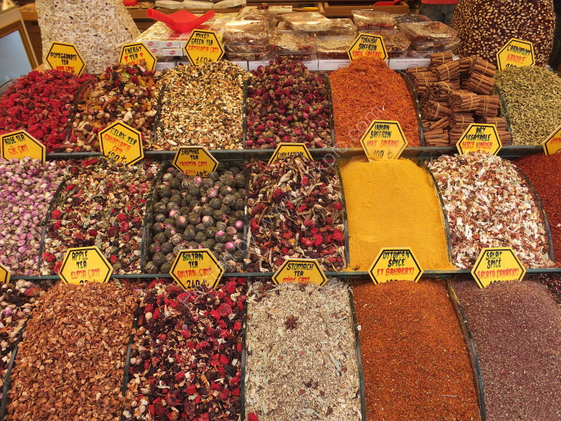 Spices & Spiced Tea Display, Grand Bazaar, Istanbul
