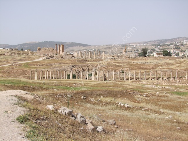 Roman Collonades North to South, Jerash