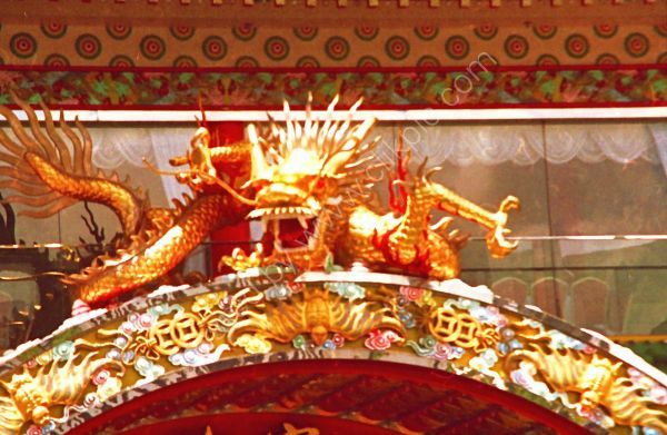 Detail on Jumbo Floating Restaurant, Castle Peak, Hong Kong