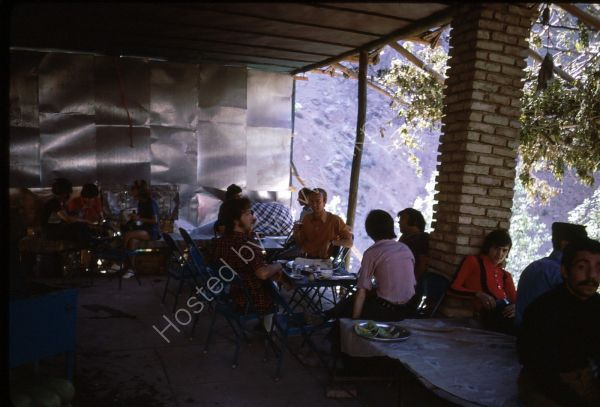 Photographer in Iranian Teahouse, Alborz Mountains, Tehran