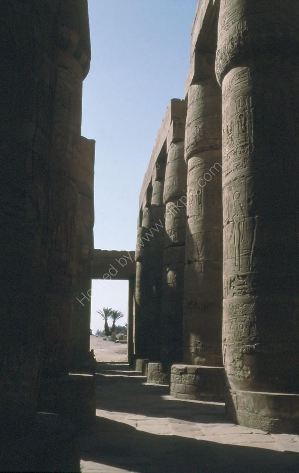 Looking through Hypostyle Hall, Karnak Temple, Luxor