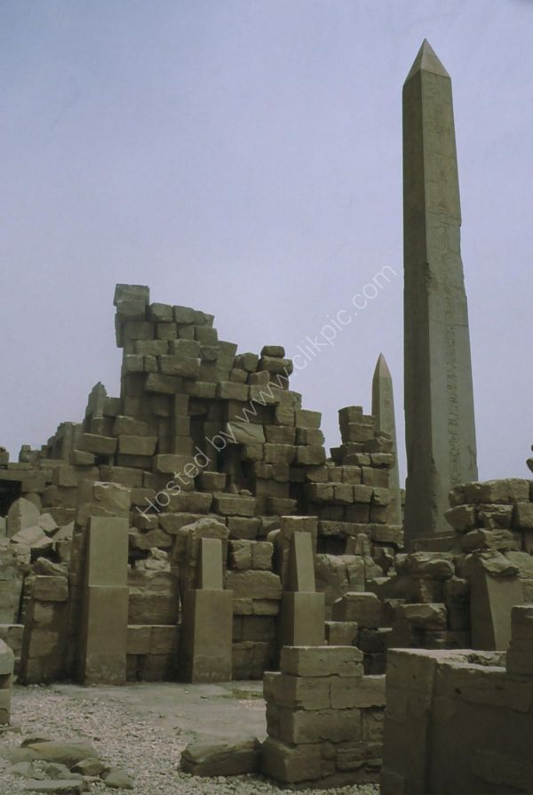 View of Two Obelisks, Karnak Temple, Luxor
