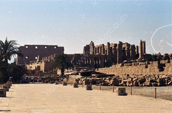 View of Karnak Temple from Sacred Lake, Luxor