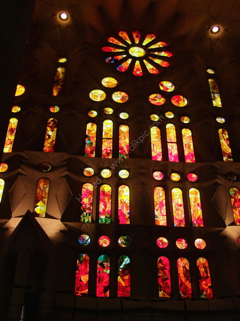 Stained Glass Window, La Sagrada Familia