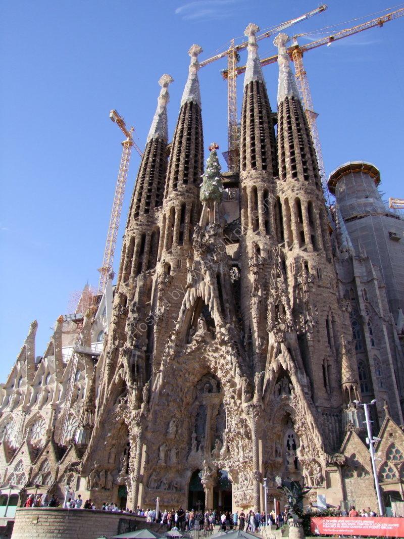 Facade of La Sagrada Familia
