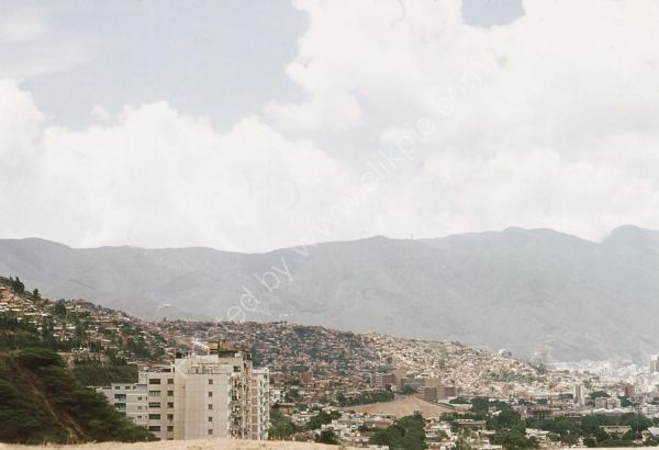 View of Residential Area in Mountains, Caracas
