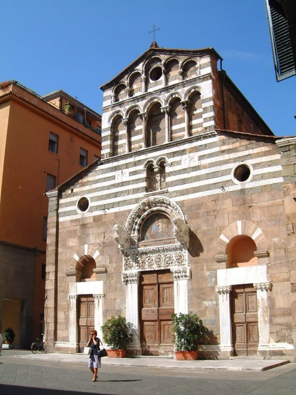 Interesting Front to Church, Lucca, Tuscany