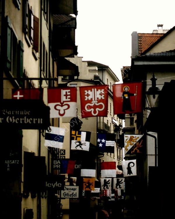 Flags in Street, Lucerne