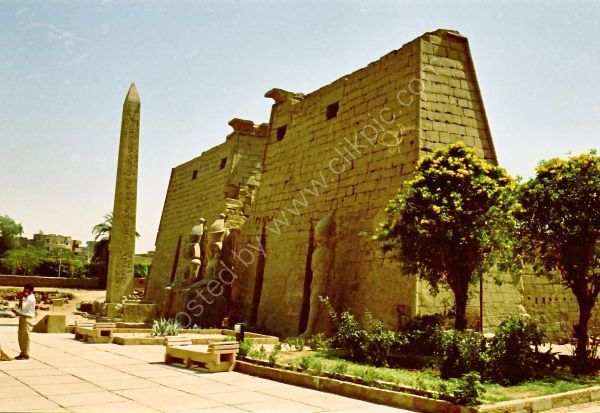 Pylon Entrance, Luxor Temple, Luxor