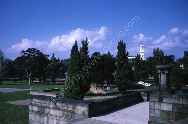 View of Melbourne Park from War Memorial, Melbourne