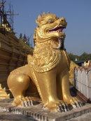 Golden Lion at Kuthodaw Pagoda