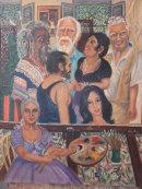 Artist Martalena painting, Havana