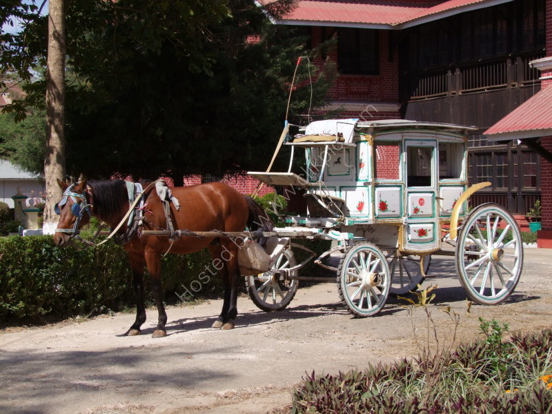 Ornately Painted Stage Coach