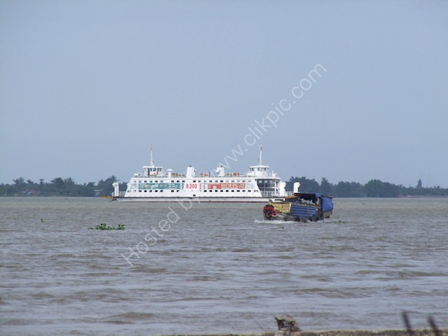Large Ferry on the Mekong Delta