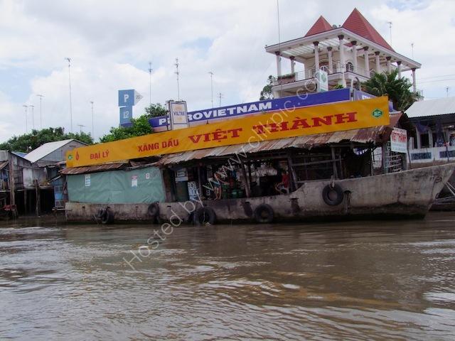 Riverside Petrol Station, Mekong River