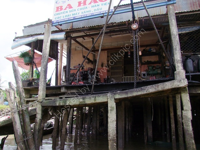 Boat Repair Shop, Mekong Delta