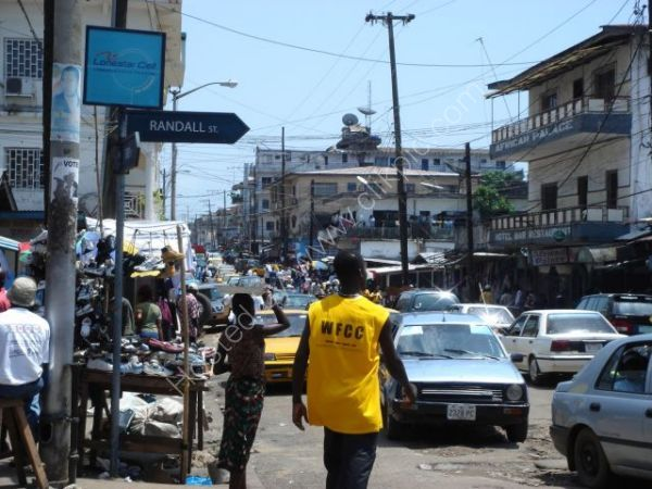 Street in capital City, Monrovia, Liberia