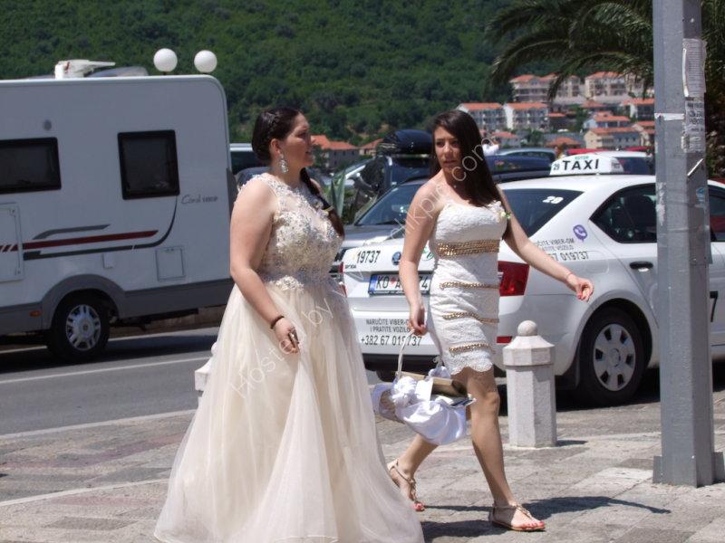Montenegran Women going to Wedding, Kotor