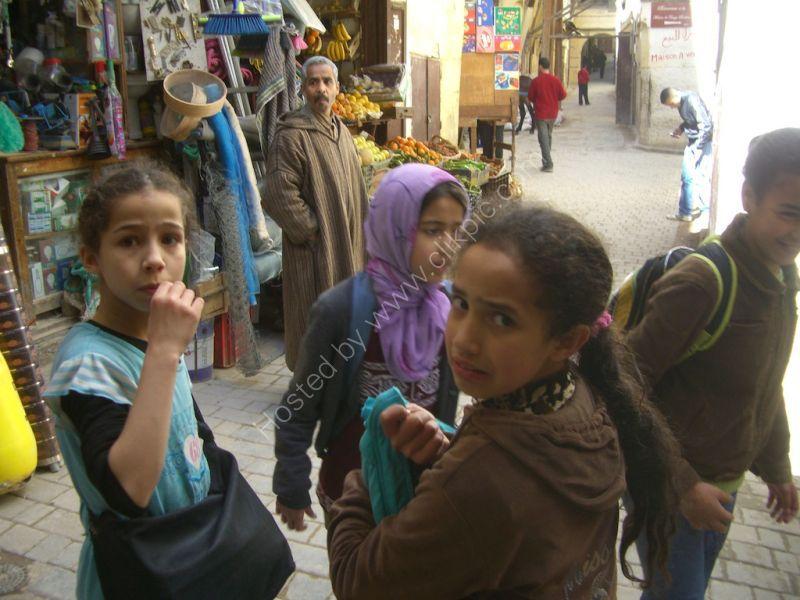 Moroccan School Children, Fes