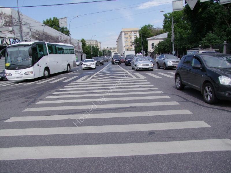 Unusual 3 Way Pedestrian Crossing, Moscow