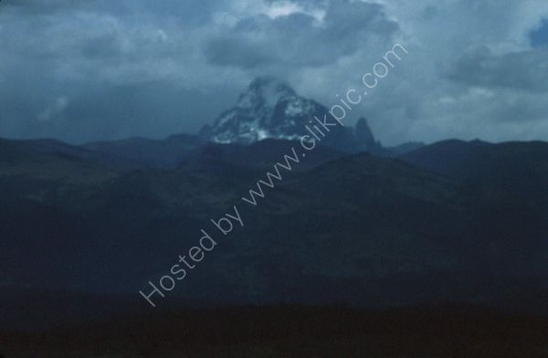 Evening View of Mount Kenya from Mount Kenya Safari Club, Nanyuki