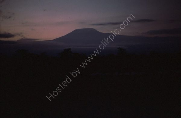 View of Kilimanjaro in Tanzania at Sunset from Kenyan Border