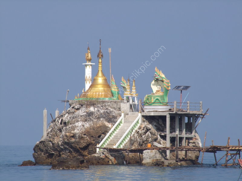 Pagoda on the Rock at Ngapali Bay