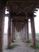 Underneath Old U Bein Teak Bridge (built 1782)