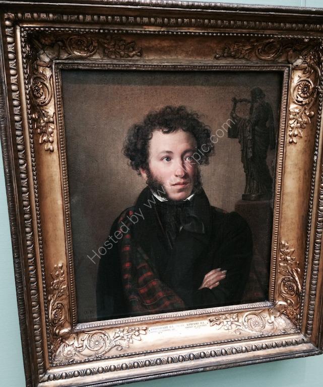 Painting of Alexander Pushkin 1799-1950's, Hermitage Museum