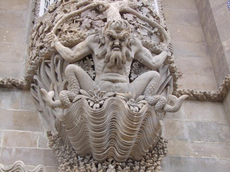 Unusual Detail on Window at Palacio Pena