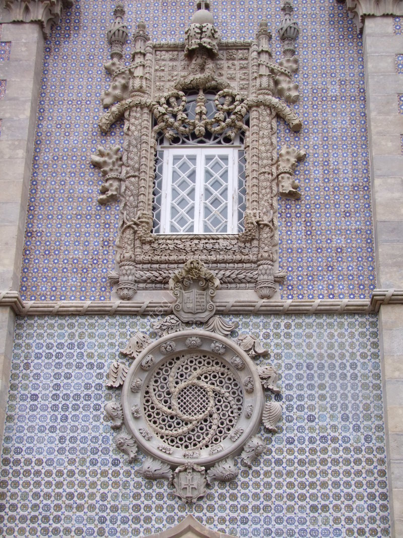 Orante Window Detail at Palacio Pena