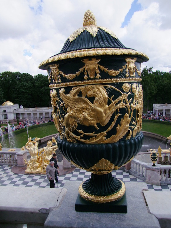 One of many Urns at Peterhof 1714-21, St Petersburg