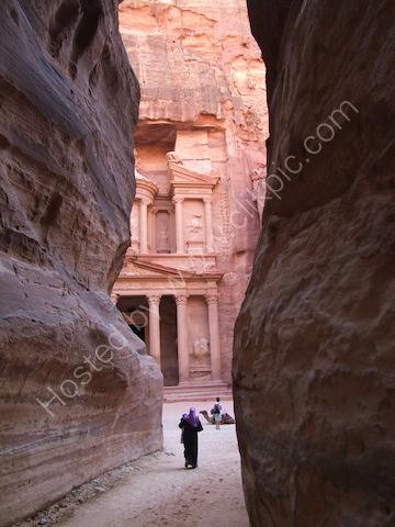 Al-Khaznet al-Faraoun (Treasury of the Pharaoh) viewed from As-Siq, Petra