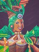 Painting of Tropicana Dancer, Prado, Havana