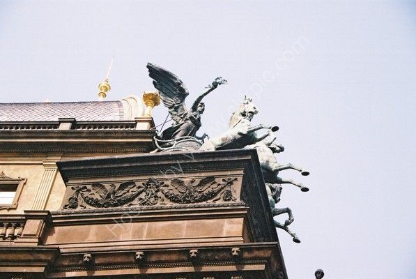 Detail on the National Theatre, New Town, Prague