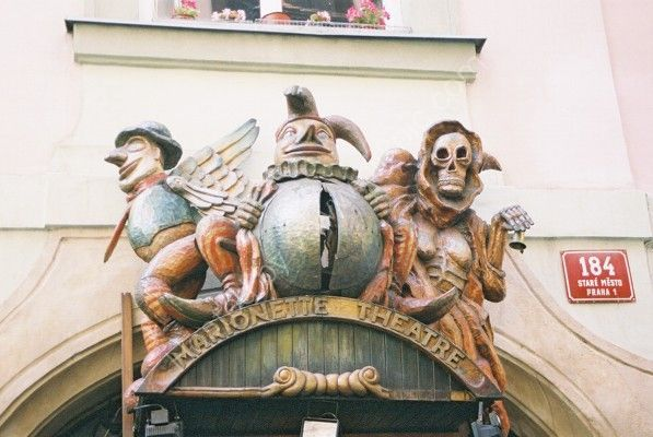 Entrance to Marionette Theatre, Old Town, Prague