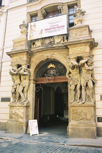 Doorway at Clam-Gallas Palace, 1714, Old Town, Prague