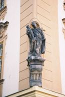 "Statue ""At The Ox"" on Corner of House, Old Town, Prague"