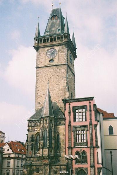 Old Town Hall Tower, 1364, & Oriel Chapel, Prague