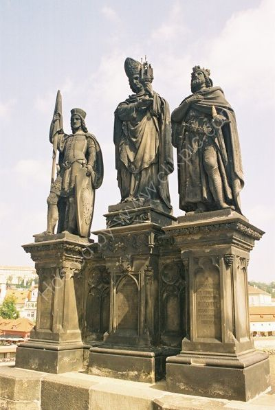St Norbert, St Wenceslas & St Sigismund, 1853, Charles Bridge, Prague